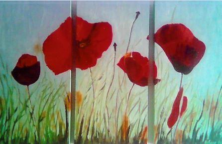 Tríptico de amapolas. Triptych of poppies