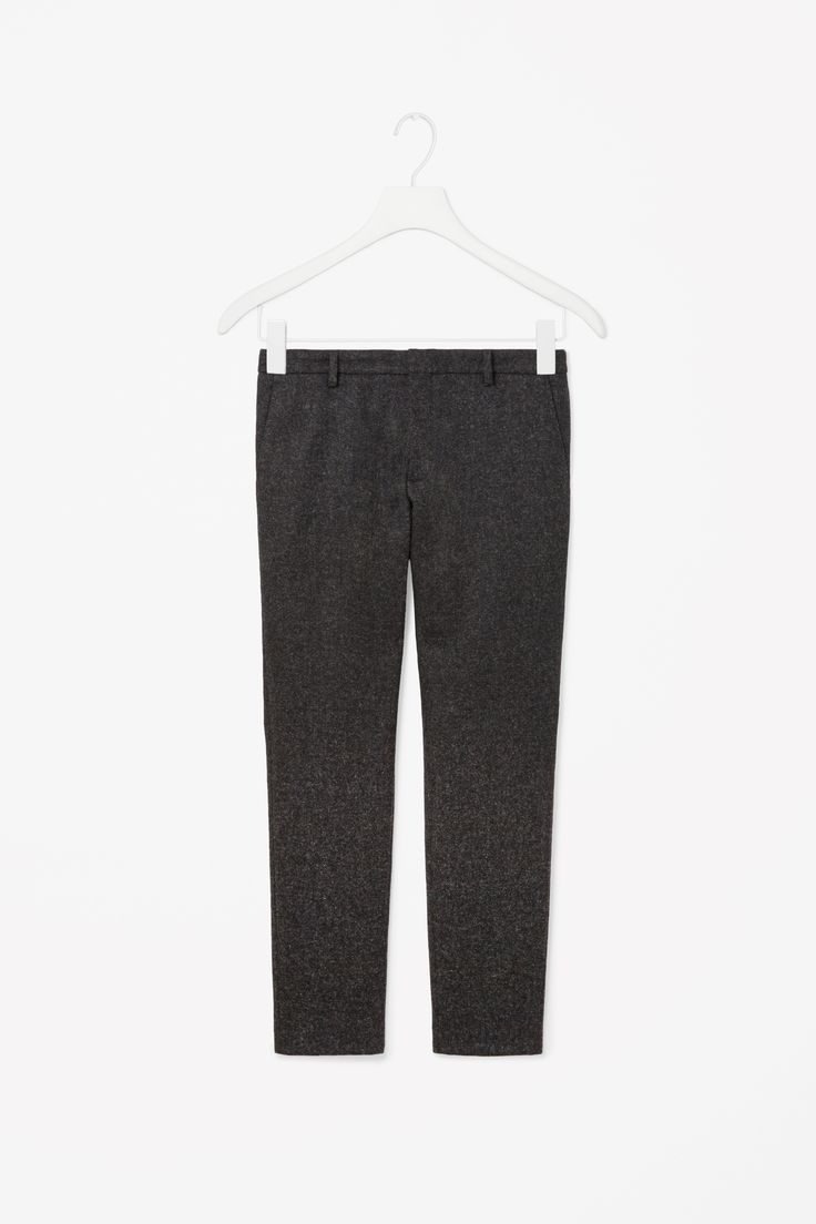 Casual wool trousers in Dark Grey Size 48