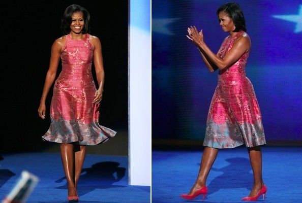No matter your political opinion, you have to admit this lady has amazing style!  Love her dress and pink shoes.  Hope to find a less expensive copy-cat version somewhere!