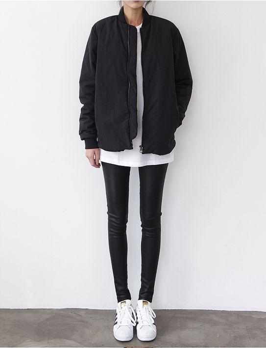 Best 25  Black bomber jacket ideas on Pinterest | Bomber jackets ...