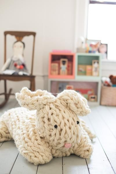 Imagine riding a gigantic bunny across the country side? Your kiddo will be over the moon with this fabulous over-sized bunny. Let her imagination run wild, w