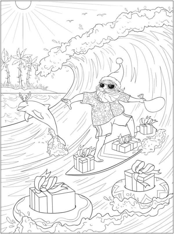 6 Tropical Christmas Coloring Pages Christmas Coloring Pages Christmas Coloring Sheets Christmas Coloring Books