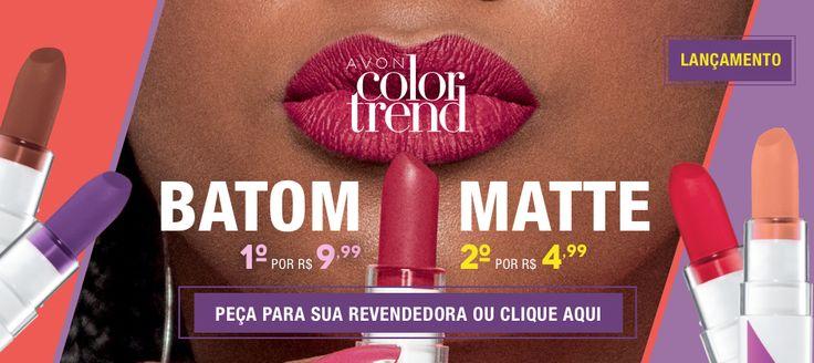 Batom Matte – Color Trend   Avon