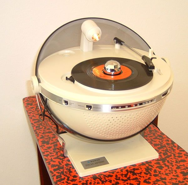 Sanyo Phonosphere record player/disco ball/radio.  I just acquired a bunch of cool vinyl and need a way to play it that goes with my UFO and space age decor.