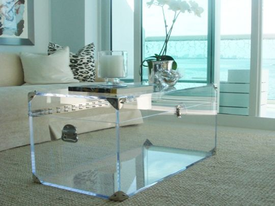 Lucite Trunk Coffee Table by Serge de Troyer
