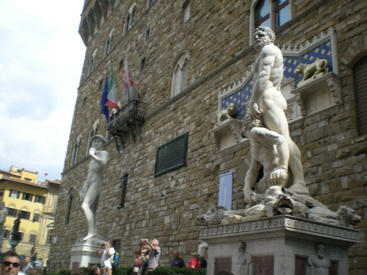 David, Perseus and lions - all copies found in the piazza outside de Medici palace