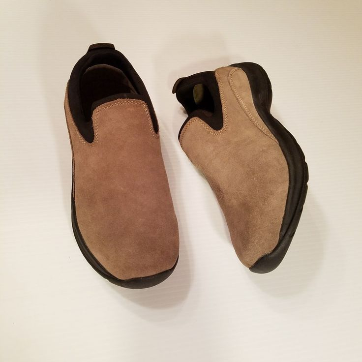 Womens Regular Classic Suede Slip-on Trainers - 6.5 - BROWN Lands End C4dbau
