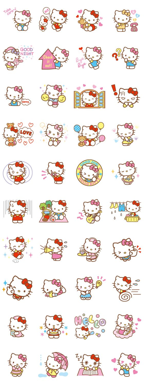 画像 - Hello Kitty (Happy Days ver.) by Sanrio - Line.me