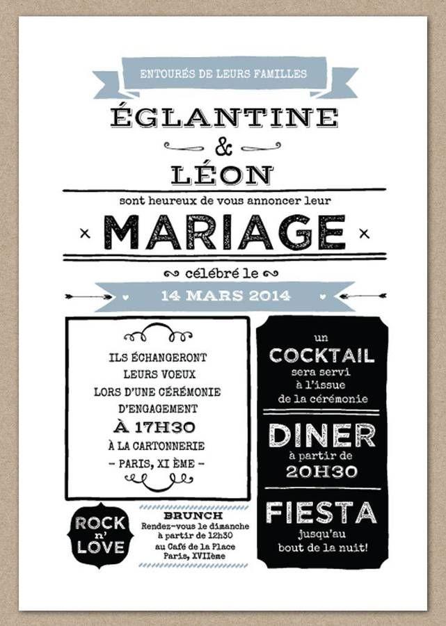 Faire-part mariage hiver                                                       …