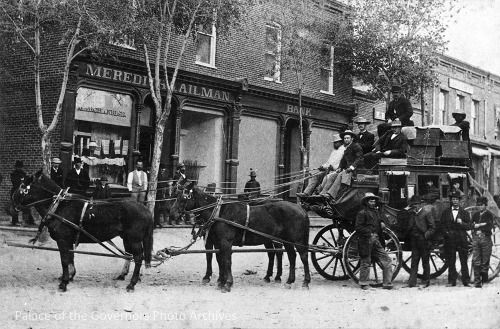 """pogphotoarchives: """" Stagecoach, Silver City to Georgetown, New Mexico Date: 1880 - 1890? Negative Number 011933 """""""
