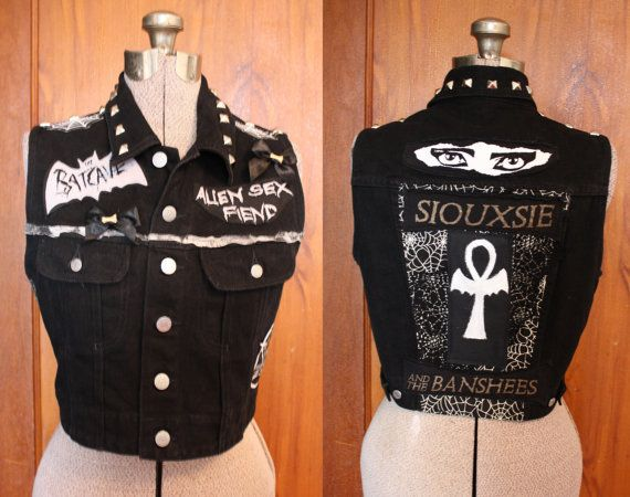 DIY Trad Goth Deathrock upcycled black Dark Punk by CoffinKitsch, $80.00