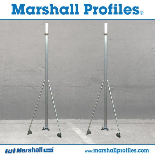 Marshall Profiles® Wall Building Profiles  (1 Set = 2 Corner Profiles)  On one setup, build 10 courses of blockwork / 30 courses of brickwork.  Buy a 2nd Set and get Further Discount