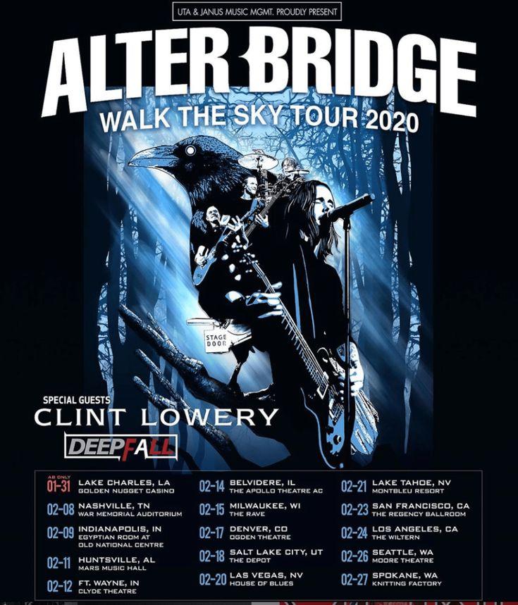 Elisa Schillaci Alter Bridge Tour Poster 2020 Poster Art Illustration On Behance