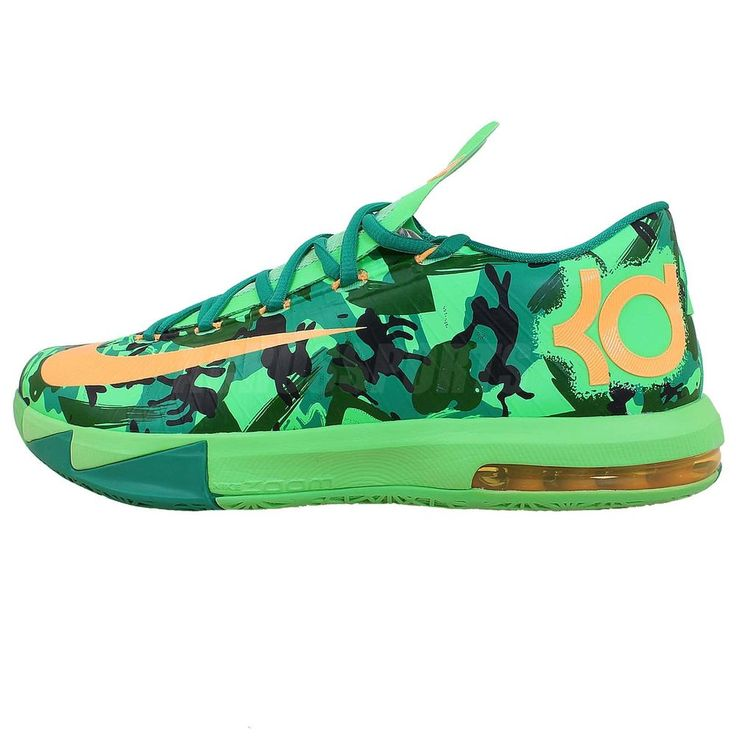 Nike KD VI 6 Easer Zoom Air Kevin Durant Green Camo 2014 Mens Basketball  Shoes