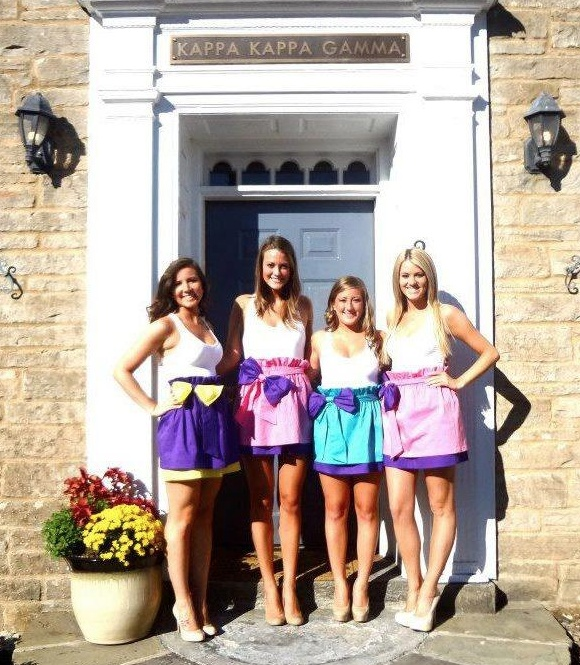 kappa rush skirts ♥ )found this randomly through some other girl's pinterest board - way to go WVU KKG)