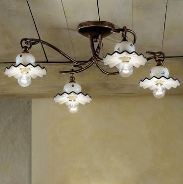 Ferroluce Collection Roma ceramics light elements - mediterranean - ceiling lighting - other metro - Topdomus by Elettromarket illuminazione