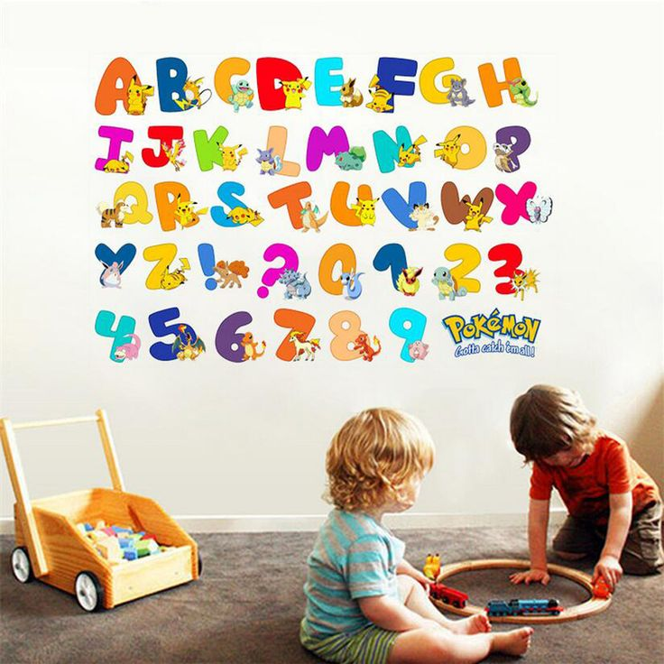 Kids Bedroom 3d Cute Pokemon Alphabet Stickers Removable Baby Room Diy Wall  Decals Child Wall Pcitures Part 84
