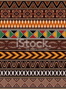 African Patterns Royalty Free Stock Vector Art Illustration