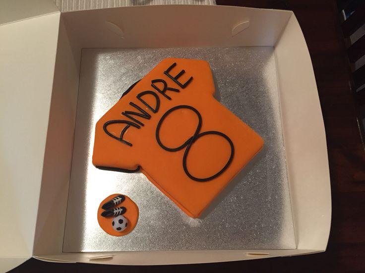 Brisbane Roar cake made for my nephew's birthday