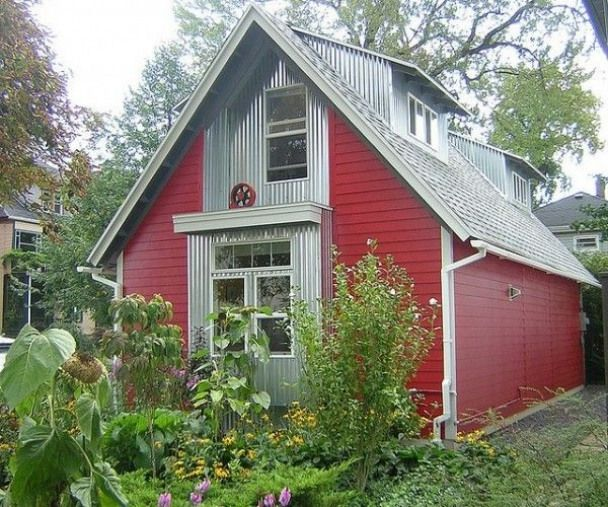 630 Square Feet Barn Cottage In Buffalo Ny Shedplans House Siding House Exterior Contemporary Cottage