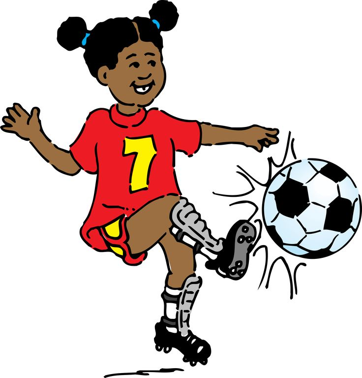 girl playing soccer by @johnny_automatic, cartoon of a girl playing soccer from http://www.usda.gov/cnpp/KidsPyra/National Agricultural Library, Agricultural Research Service, U. S. Department of Agriculture, on @openclipart