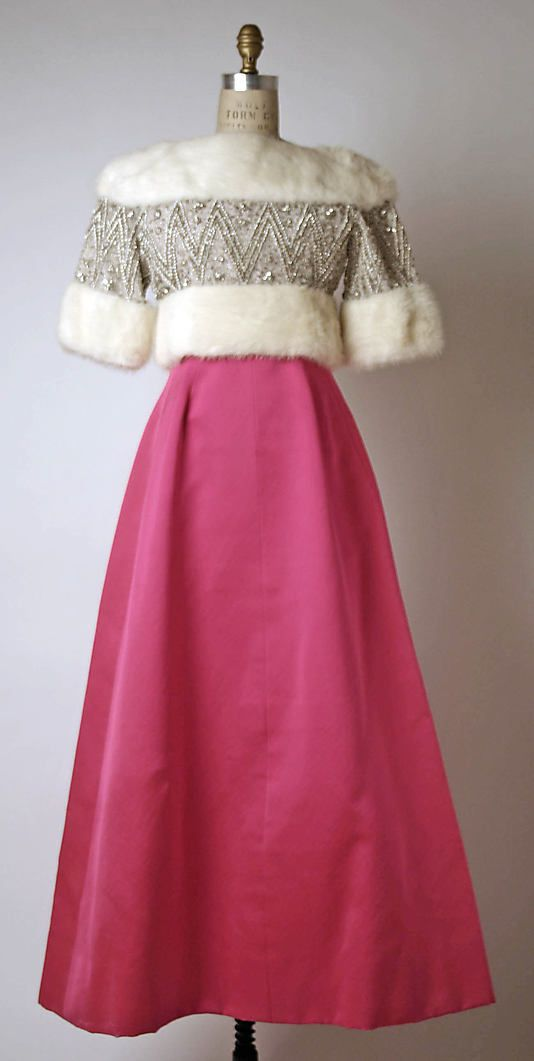 Givenchy Evening Dress and Jacket, 1961 I'm against fur so I'd use silk velvet instead.