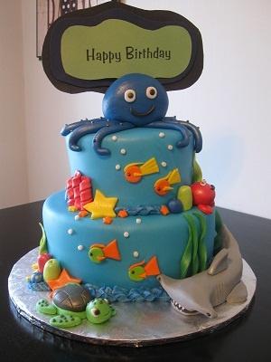 Under The Sea Birthday Cake C Est La Vie Custom Cakes