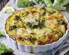 Clafoutis au curry, fromage blanc, brocolis et poulet | Cuisine AZ