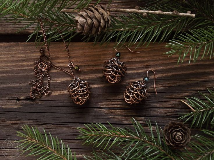 Chainmaille pinecones :-)