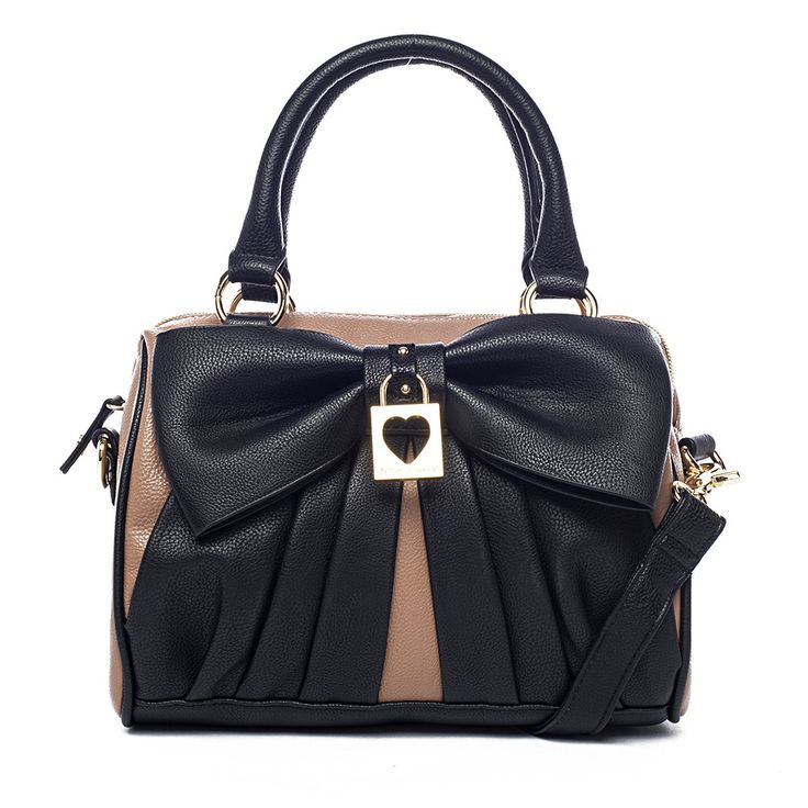 I love the Betsey Johnson Bow Lock Speedy Satchel from LittleBlackBag