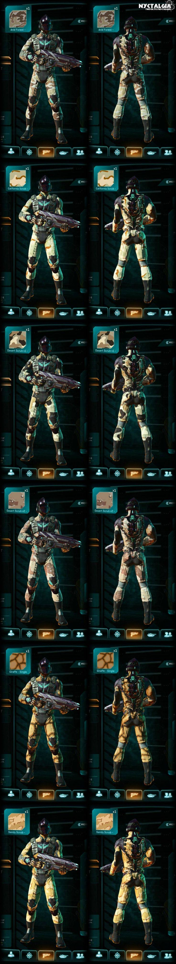 Nyctalgia's PlanetSide 2 Camouflage Preview Pictures - http://freetoplaymmorpgs.com/planetside-2/nyctalgias-planetside-2-camouflage-preview-pictures