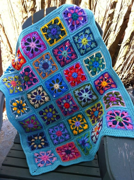 Kaleidoscope Granny Square baby afghan. Granny Squares ...