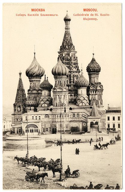 St. Basil's Cathedral; Moscow, Russia; vintage postcard, 1904