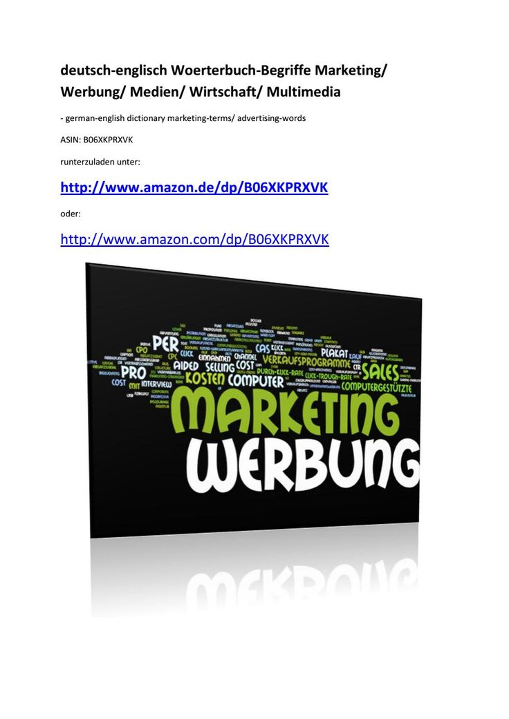 German-english dictionary marketing terms advertising words by Markus Wagner - issuu