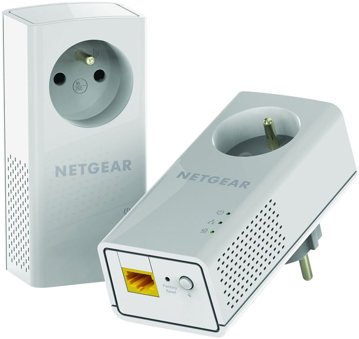 Netgear PLP1200-100FRS Pack de 2 Adaptateurs CPL 1200 Mbps Blanc: Amazon.fr: Informatique