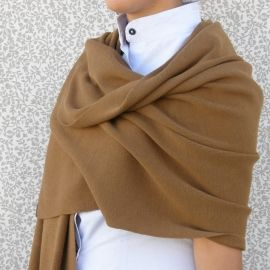 Knitted Shawl - Brown