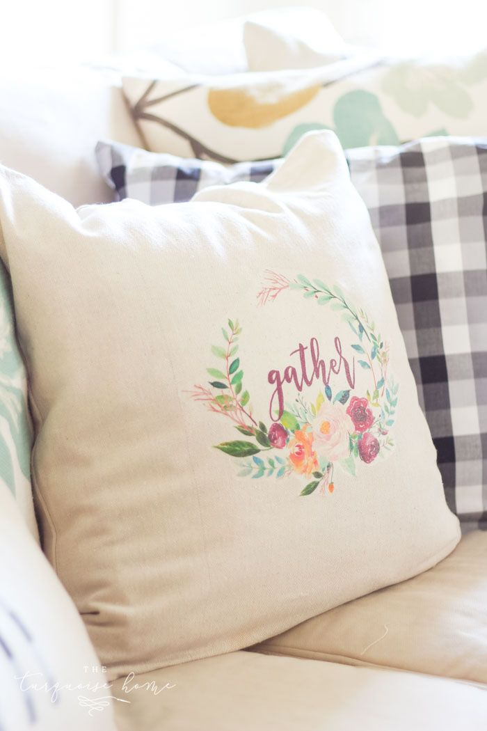 picture about Printable Embroidery Transfer Paper named How in direction of Crank out a Pillow with Iron Upon Go Paper + a absolutely free