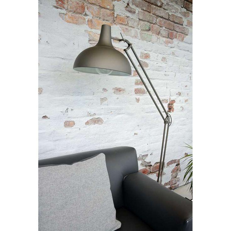Lucide vloerlamp Watsie - grijs   Leen Bakker