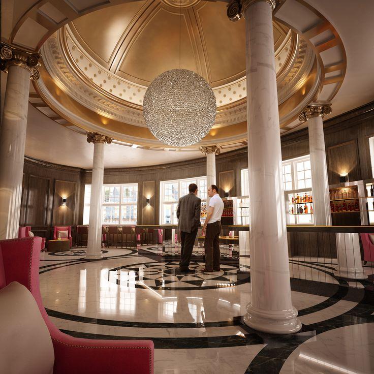 champagne bar, glasgow central hotel, glasgow