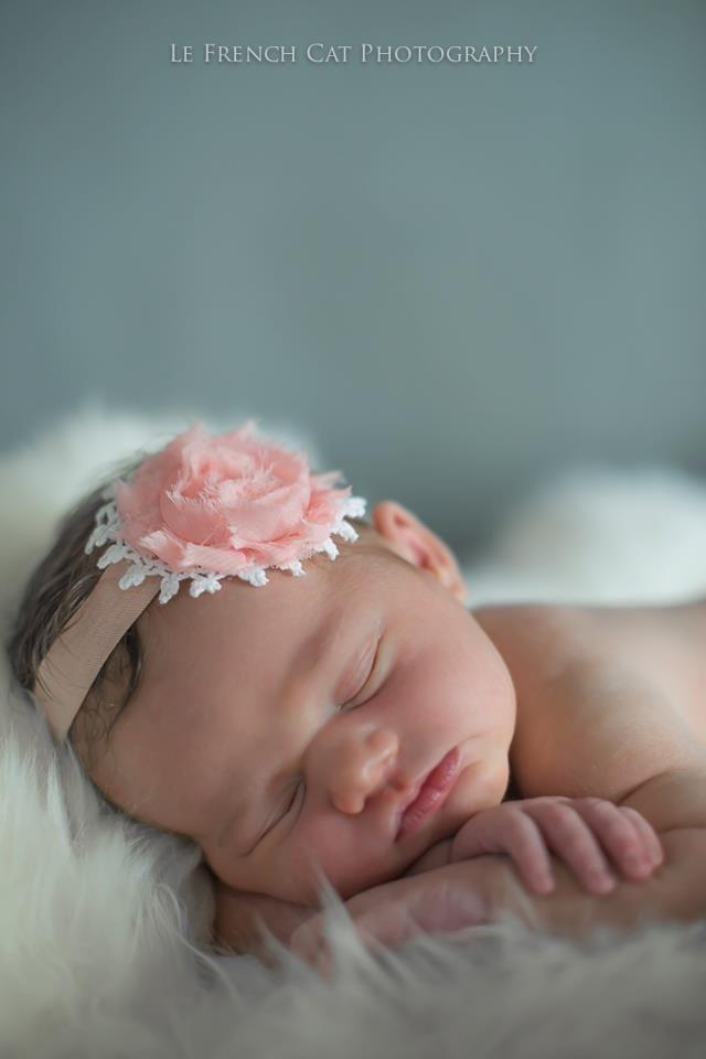 """Camellia"" Headband in Peach"