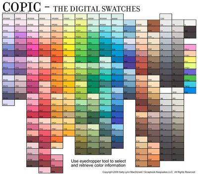Copic Digital Swatches