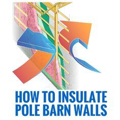 If you're wondering how to insulate pole-barn walls, don't just focus on the walls. Focus on the design of the entire building.