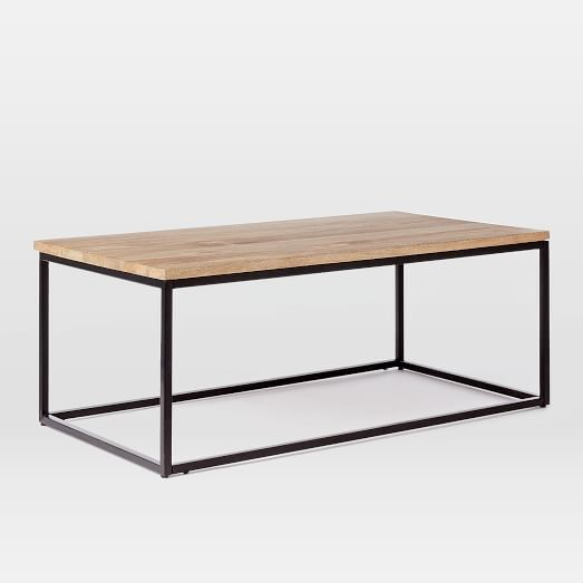 "Box Frame Coffee Table - Raw Mango | west elm - 44""x 24"" - $349 (less 20% is $279.20)"