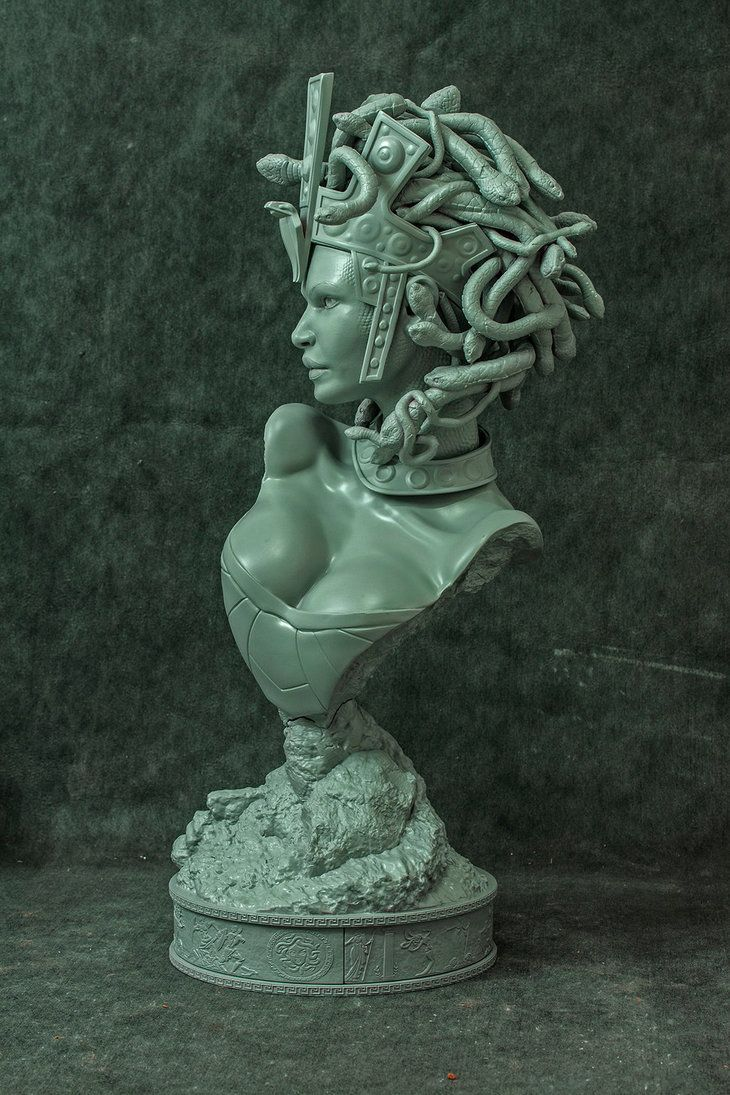 Medusa printed 2 by mufizal on DeviantArt