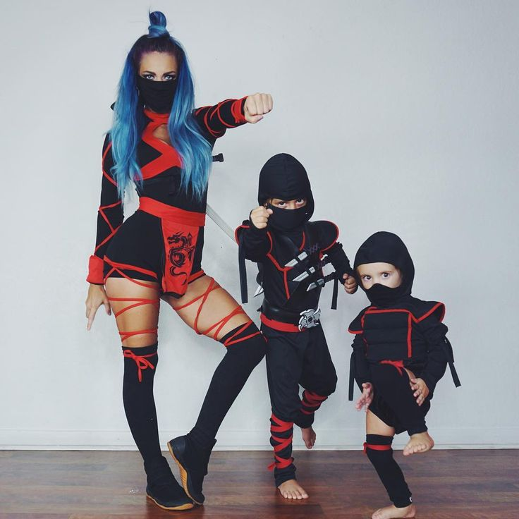 Beware the sneakiest deadliest ...and cutest ninja squad in all the land. . Double tap if you're gonna be a ninja for your #halloweencostume! . . Don't forgot to check out our ninja video in the previous post! And vote for your favorite ninja alter ego! #nightninja #mermaidninja #butterbeanninja . . #ninjasquad #ninjawarrior #ninjafamily