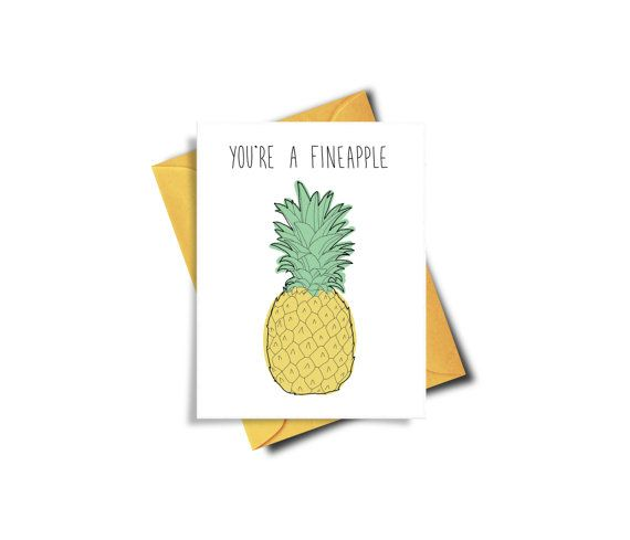 You're A Fineapple Funny Love Printable Card Funny by BAECKANN
