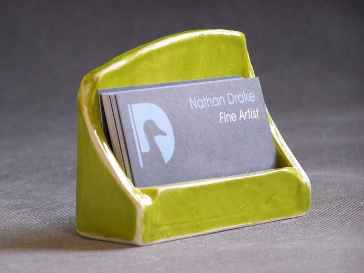 Ceramic business card holder red bamboo design homework for Ceramic business card holder
