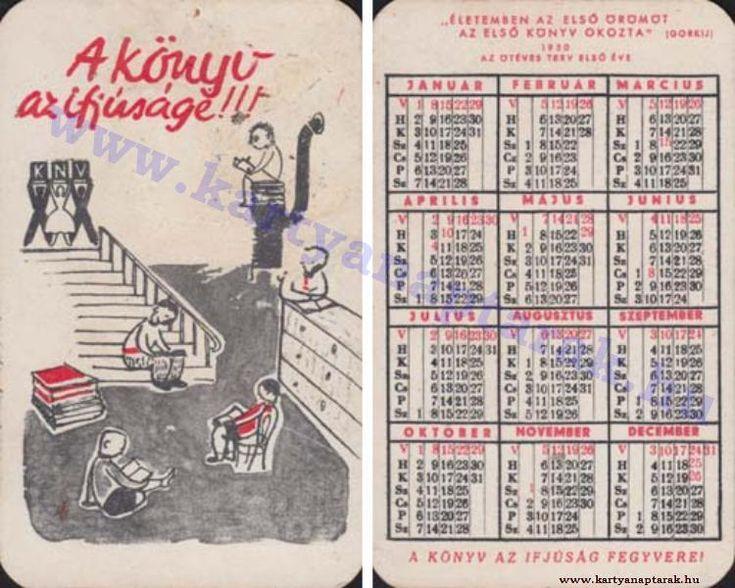 1950 - 1950_0007 - Régi magyar kártyanaptárak