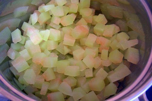 Kandierte Früchte aus Wassermelonenrinden