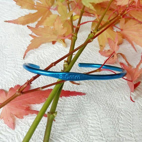 Blue crochet hook bracelet  crochet gift  blue bracelet